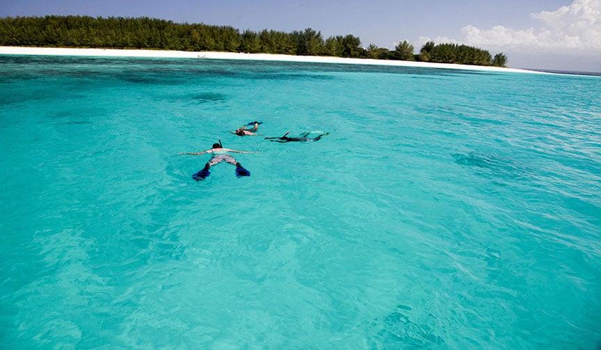 Snorkeling Along Zanzibar Coast