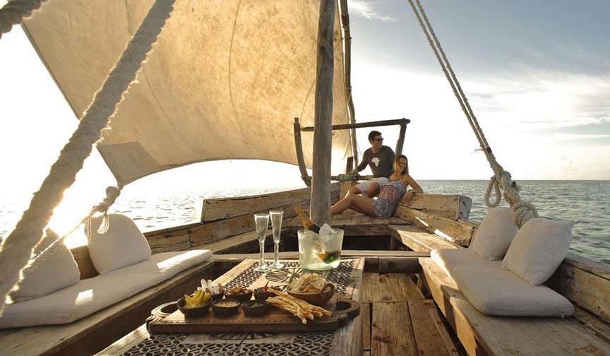 Sailing Off The Coast of Zanzibar