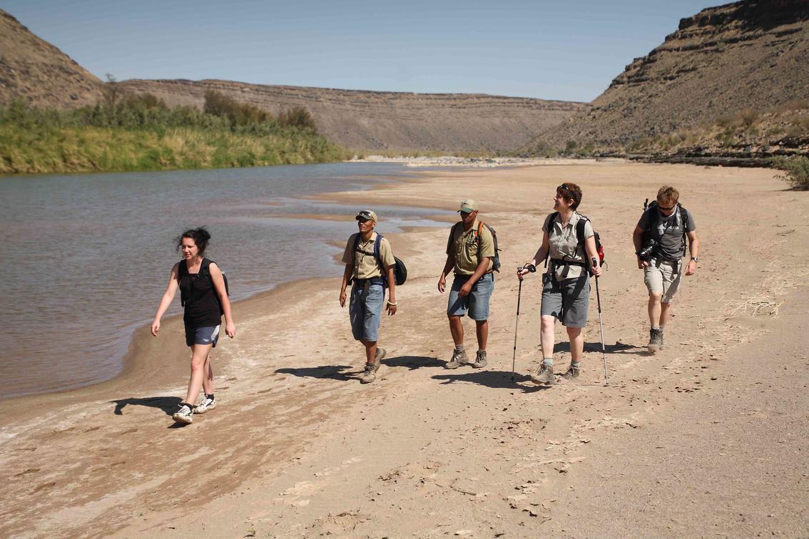 Hiking along Fish River