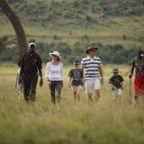 Family Walking Safari with Guide and Maasai