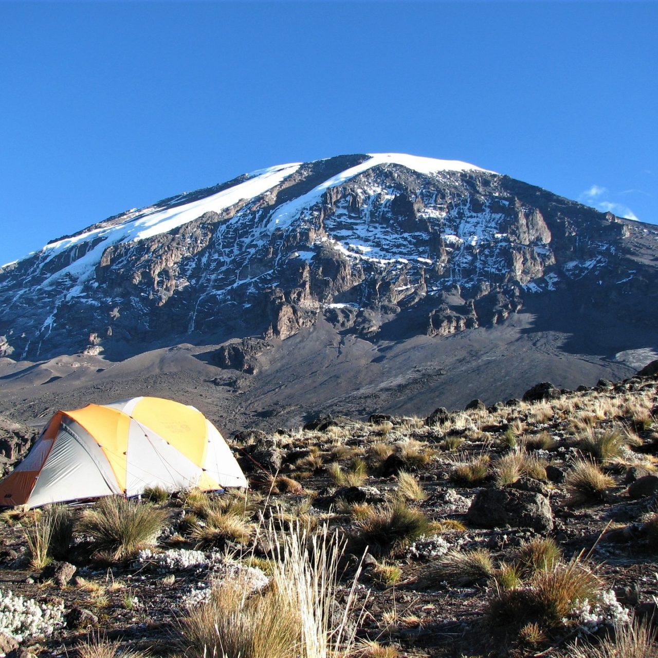 Camping along Mount Kilimanjaro