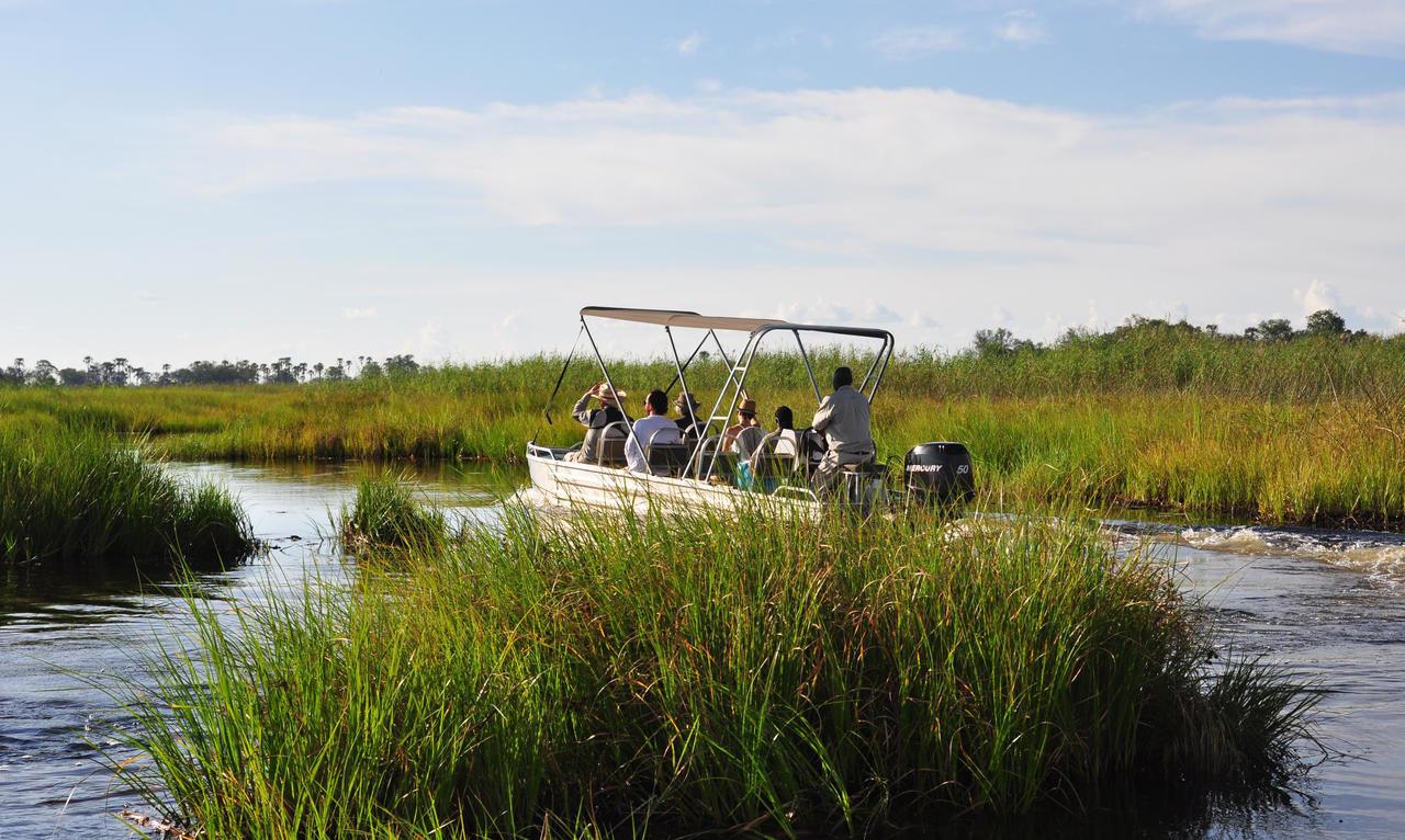 boating along the Okavango Delta