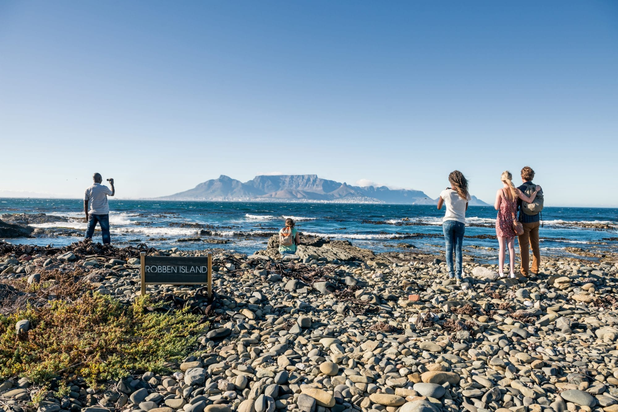 scenic view from robben island
