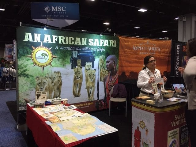Travel & Adventure Show 2019 Safari Ventures booth