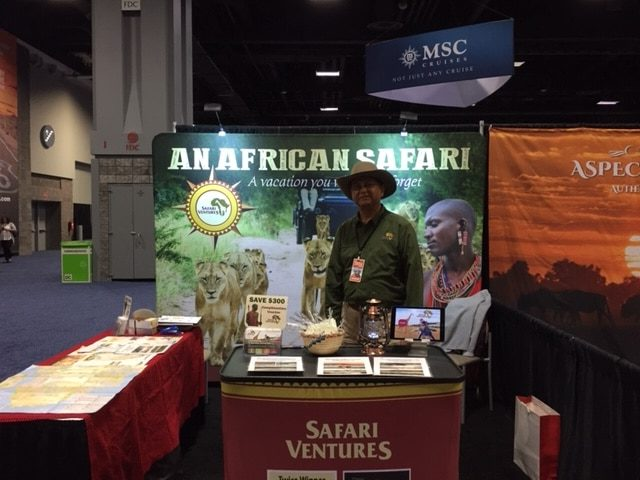 Safari Ventures booth at Travel & Adventure Show 2019
