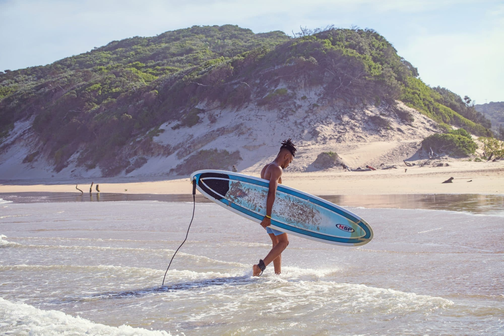 man surfing in south africa