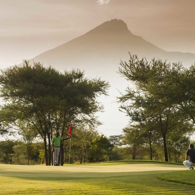 Golfers playing at Kilimanjaro golf course