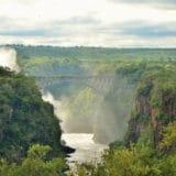 Victoria Falls Hotel view of falls
