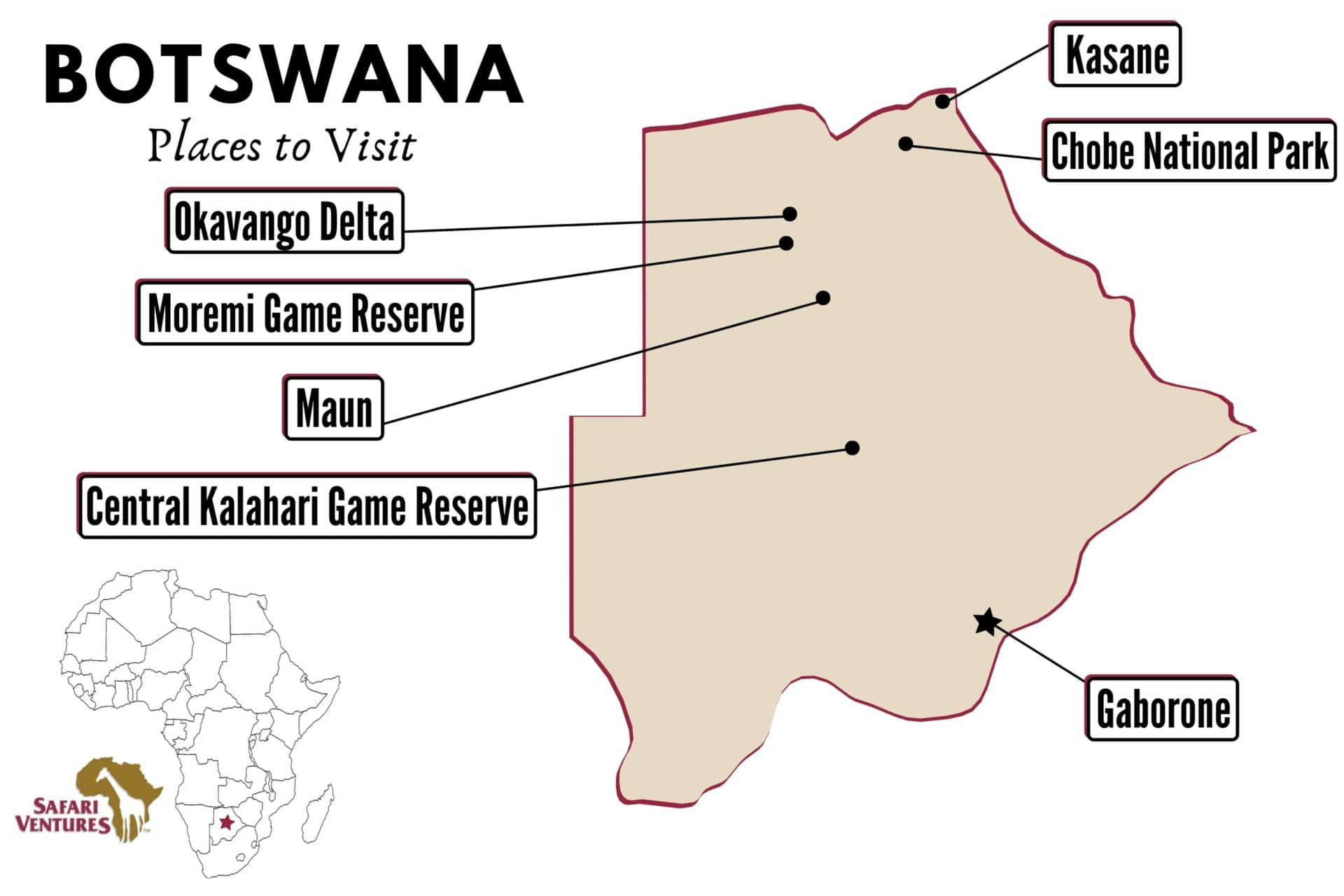 Places to visit in Botswana