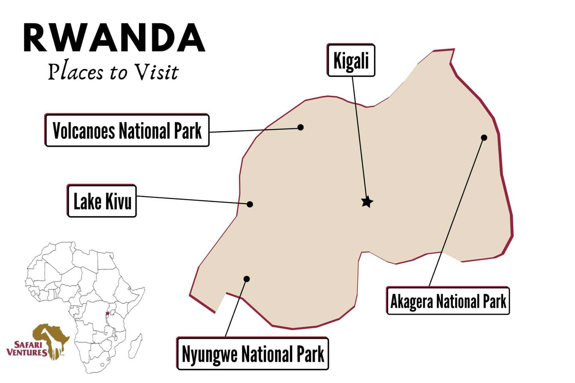 Places to visit in Rwanda