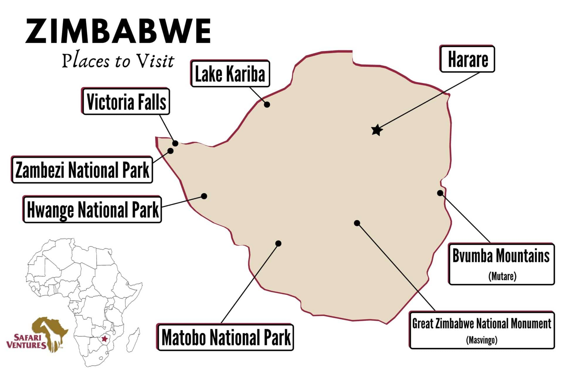 Places to visit in Zimbabwe